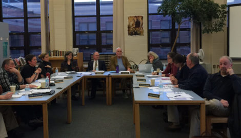 The Southern Berkshire Regional School Committee meeting to decide how to respond to a 2017 budget that had been rejected by two towns, Monterey and Egremont.