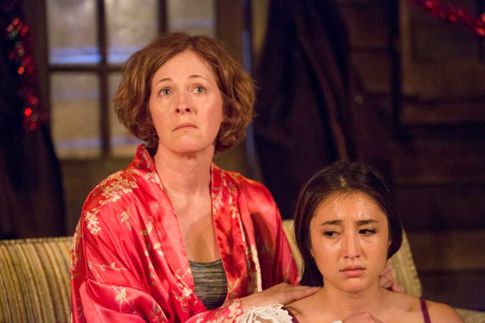 Kathleen McNenny and Sasha Diamond in Barrington Stage Company's 'The Birds.' Photo courtesy Barrington Stage Company