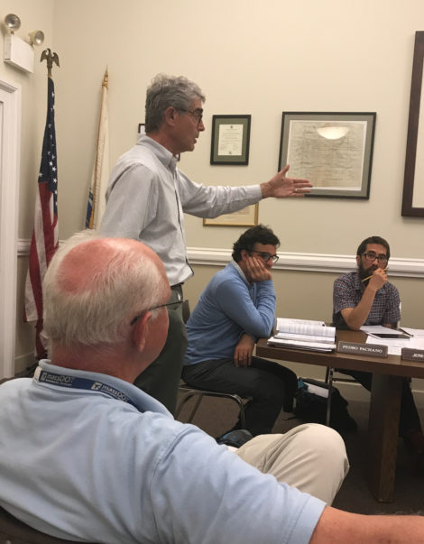 Marc Fasteau, who lives in the vicinity of the airport, argues that his well water has been contaminated with lead from aviation gasoline used to fuel planes. Photo: Victor Feldman