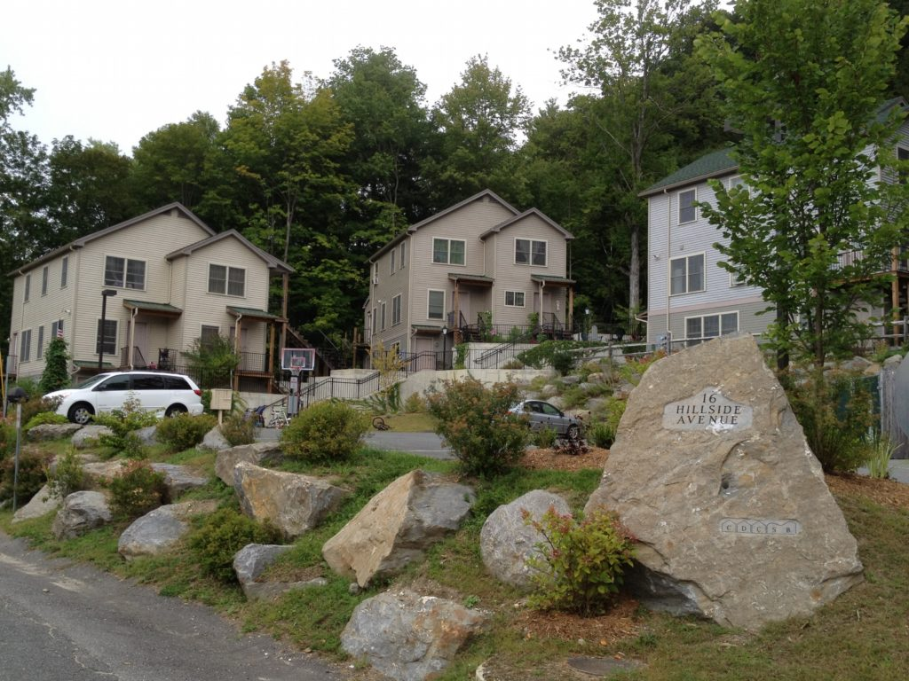 Hillside Avenue, Great Barrington – 10 rental units owned and developed by the CDC of South Berkshire. - Photo Credit: Tim Geller