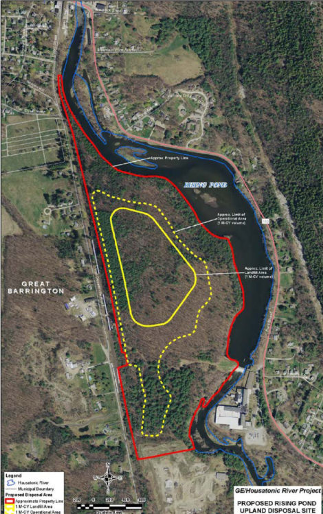 A rendering of the site of GE's proposed Rising Pond PCB landfill in Housatonic, Mass.