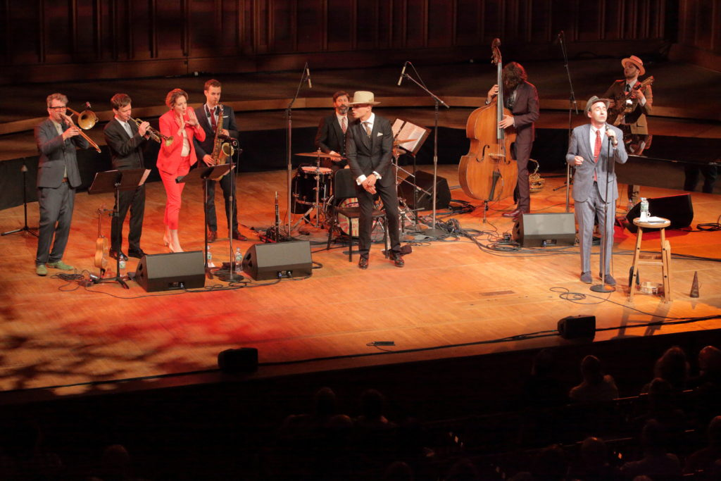 The Hot Sardines performing at Tanglewood's Ozawa Hall in Lenox on June 16. Photo: Hilary Scott