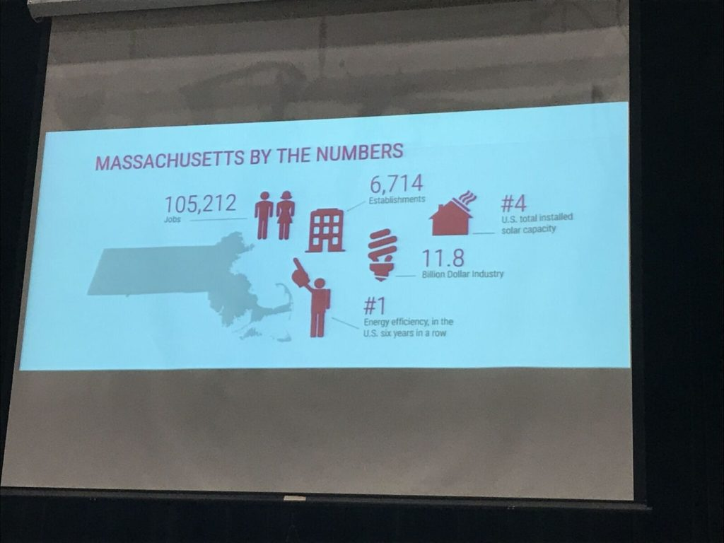 Clean energy employment numbers for Massachusetts. Photo: Victor Feldman