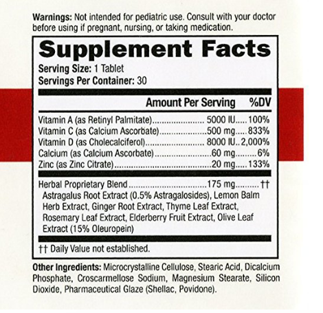 The label listing the ingredients in Dr. Schnuffie's.