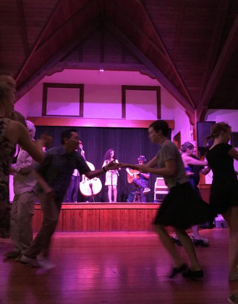 A swing dance at Dewey Memorial Hall. Photo: Elizabeth Orenstein