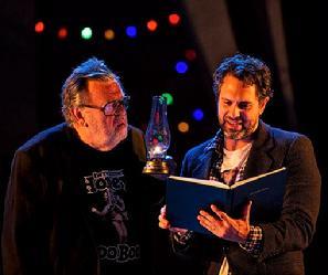 Gene Jones as Ferapont and Thomas Sadoski as Andrey. Photo: Daniel Rader