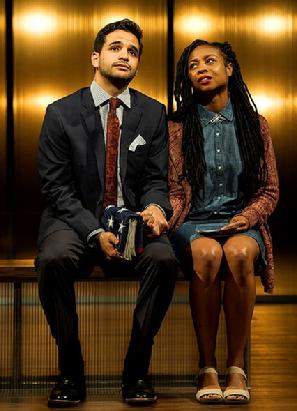 Hiram Delgado as Gabriel, Sheria Irving as Cora. Photo: Daniel Rader