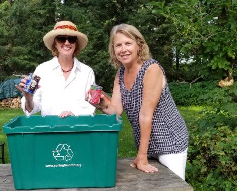 Egremont Green Committee authors Juliette Haas (left) and Corinna Barnard.