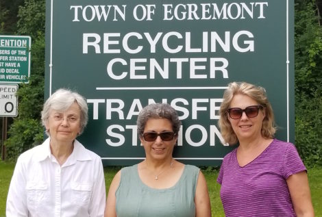 Egremont Green Committee authors  Marj Wexler, Pat Konecky, and Corinna Barnard