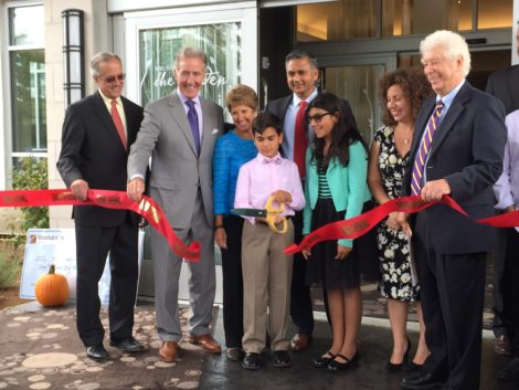 Mahida family at the 2015 ribbon cutting for the Hilton Garden Inn in Pittsfield. Photo: David Scribner