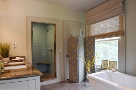 A fuller view of the renovated bathroom. Photo: Jennifer Owen