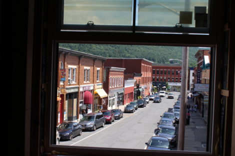 The view of Rairoad Street from a second floor window of the 47 Railroad Street project. Photo: Terry Cowgill