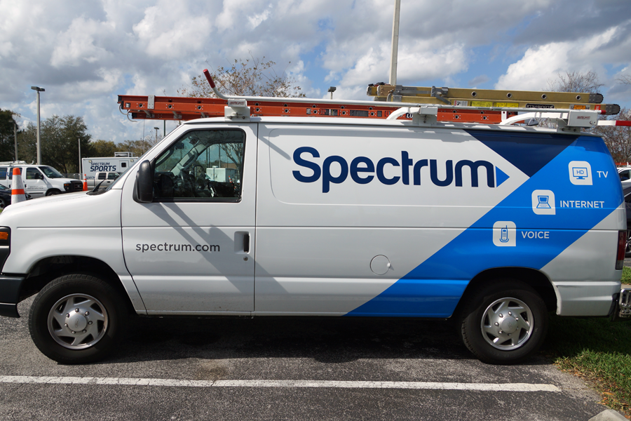 A Charter-Spectrum van of the sort seen in Berkshire County since the company acquired Time Warner Cable. The company recently received $4.4 million in state funding to wire five rural towns in Massachusetts. Photo courtesy Charter Communications