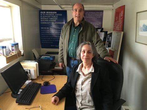 Berkshire Center for Justice founder and director Eve Schatz with board member David Ornstil. Photo: David Scribner