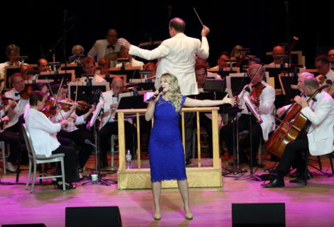 Whitney Bashor performs with Ted Sperling and the Boston Pops. Photo: Hilary Scott
