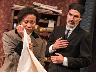 Nehassaiu deGannes as Esther and Tommy Schrider as Mr. Marks. Photo: Stratton McCrady