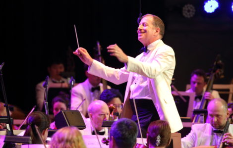 Ted Sperling leads the Boston Pops in a Rodgers and Hammerstein tribute. Photo: Hilary Scott