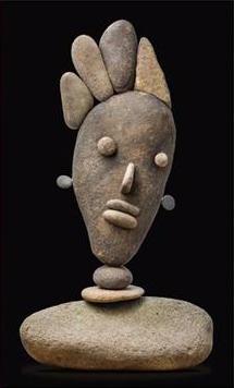 Dan Peterson, 'Rock Sann,' river stones, 19.5 x 11.5 x 5, image courtesy Neumann Fine Art