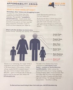 The 'affordability crisis' flyer that was distributed to the Reclaim training session in Utica.