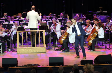 Andrew Samonsky performs with Ted Sperling and the Boston Pops. Photo: Hilary Scott