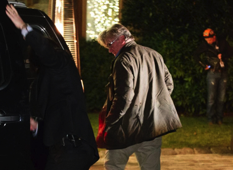 Steve Bannon at the Owl's Nest, the Mercer Long Island compound, after the November election.
