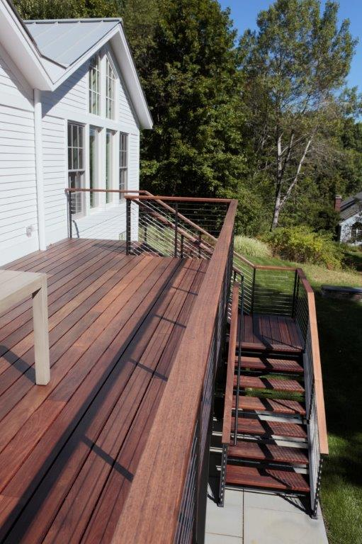 Close-up of the new back deck. Photo: Wit McKay