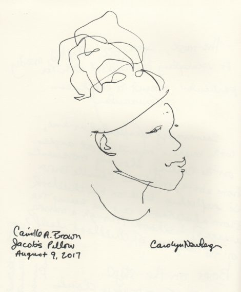 Camille A. Brown. Illustration by Carolyn Newberger