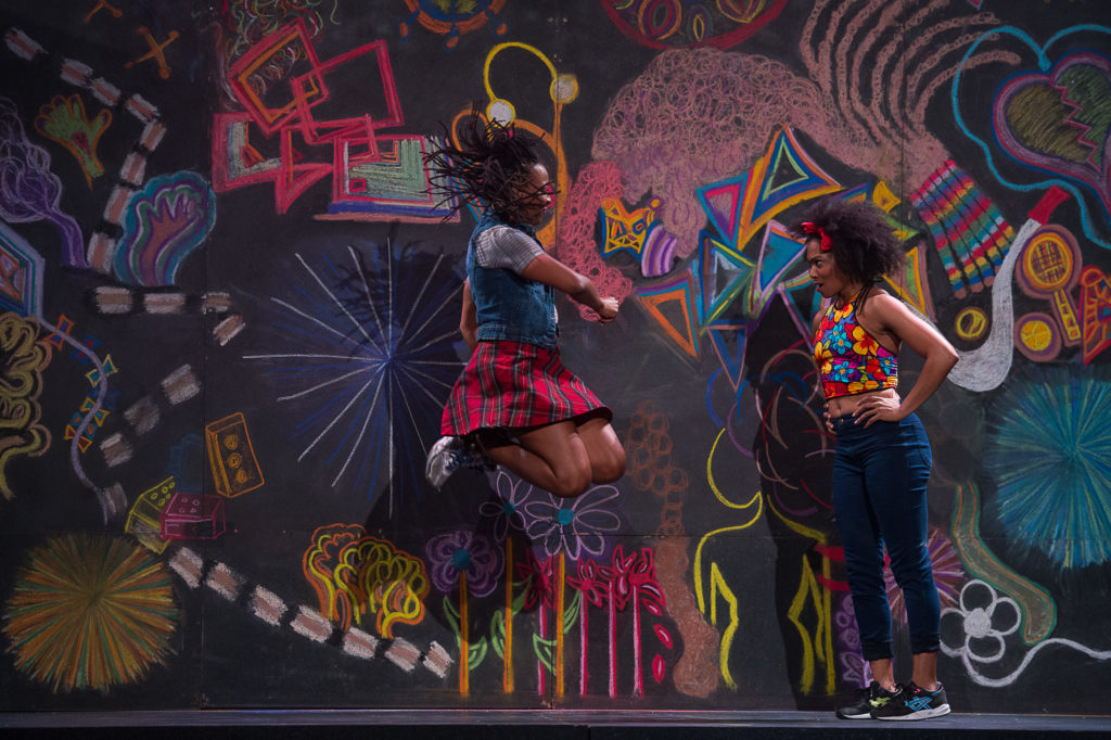Beatrice Capote and Chloe Davis of Camille A. Brown & Dancers in 'BLACK GIRL: Linguistic Play.' Photo: Christopher Duggan
