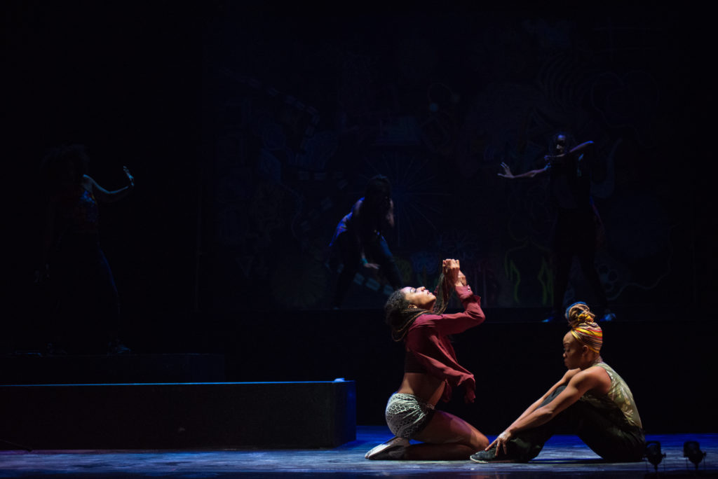 Camille A. Brown & Dancers in 'BLACK GIRL: Linguistic Play.' Photo: Brooke Trisolini