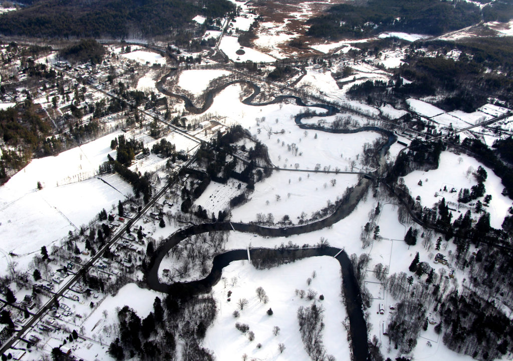 The Housatonic River from the Air by Glenna Blackwell of Great Barrington, Mass.