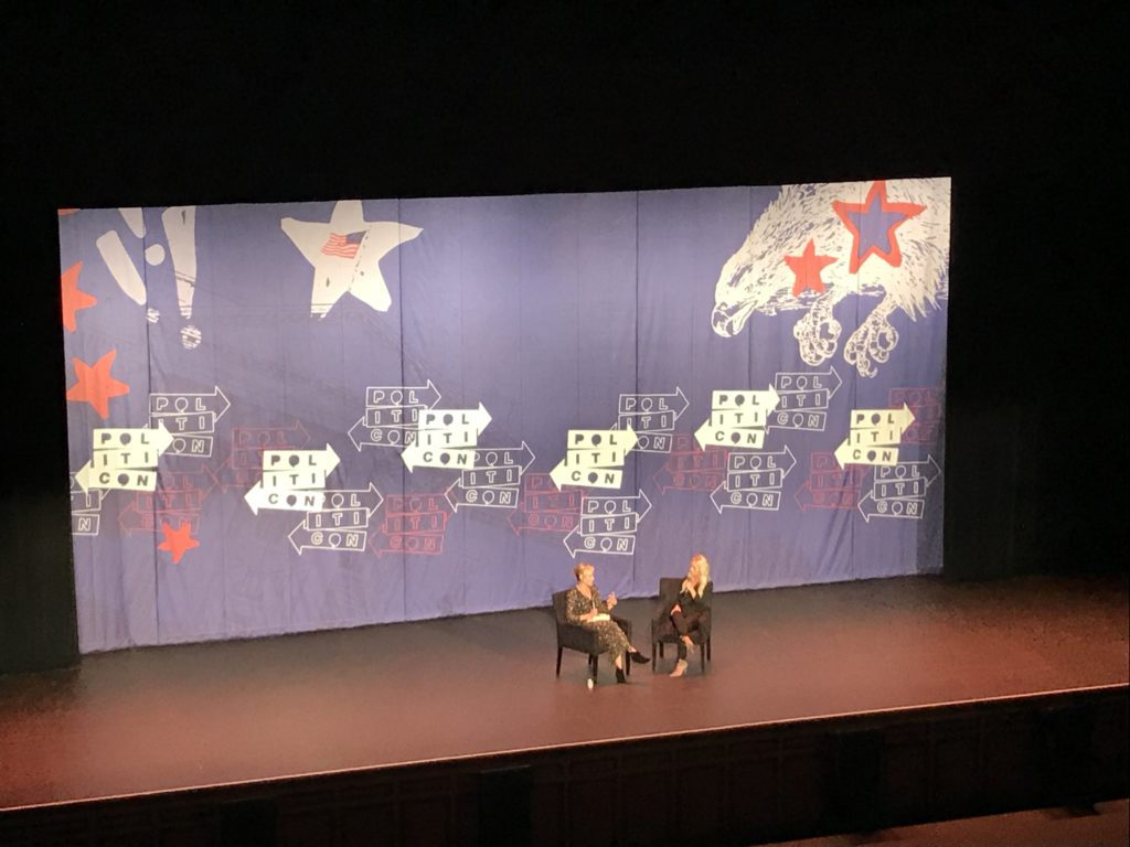 A discussion between Chelsea Handler, right, and Tomi Lahren. Photo: Victor Feldman