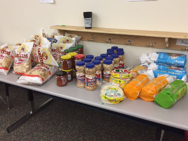 Food donations for Project Connection. Photo: Sheela Clary