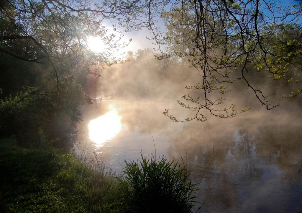 Daybreak on the Housatonic River by James Selva of Housatonic, Mass.