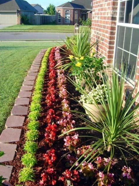 The military line-up of plants in a row is seldom visually appealing, and usually does not include plants that have much horticultural merit either.