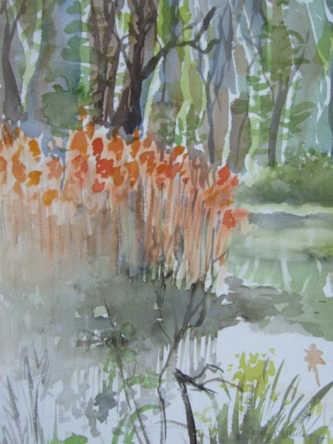 The Pleasant Valley Sanctuary in our Berkshire neighborhood CREDIT: Watercolor by Carolyn Newberger