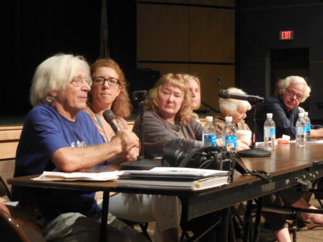 The panel of friends and alumni of The Music Inn: from left, David Rothstein, Sarah Eustace, Nancy Fitzpatrick, Vera Lacocq, Olga Weiss, and Larry Gadd. Photo: Terry Cowgill