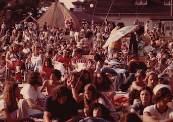 The Music Inn audience during the Rock and Roll Era. Photo courtesy musicinn.org
