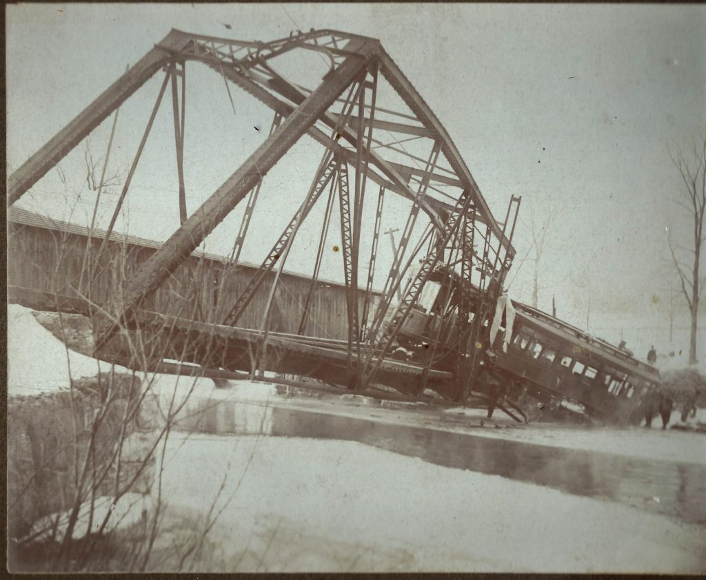 Accident in East Lee, 1903. Photo courtesy 'Berkshire Street Railway' by O. R. Cummings