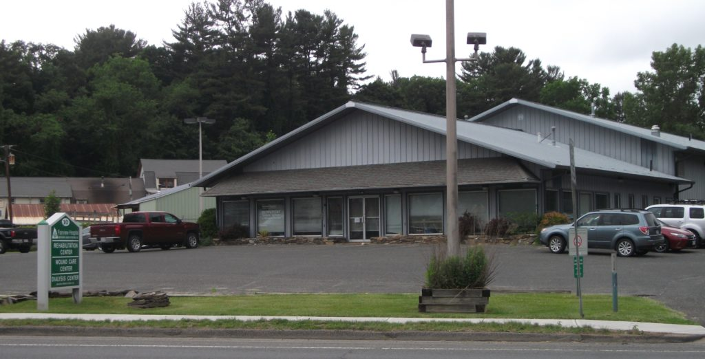 The former Condor Chevrolet on Maple Avenue in Great Barrington is now home to Fairview Hospital's rehabilitation, wound care and dialysis centers.