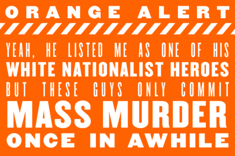 ORANGE ALERT: The (almost) daily outrage