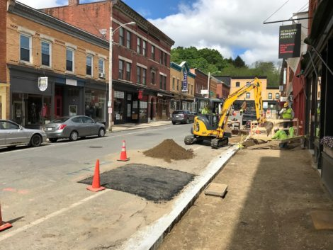 Downtown Great Barrington construction 'moving along pretty swiftly'