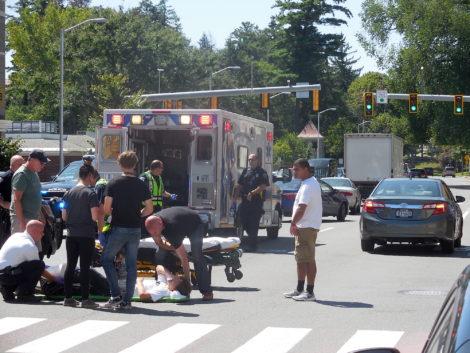 Skateboarding Great Barrington teen struck in crosswalk