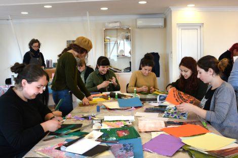 Through the ancient art of book-binding, Great Barrington artist Suzi Banks Baum teaches Armenian women to express themselves
