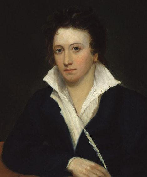 Portrain of Percy Bysshe Shelley bu Hilton