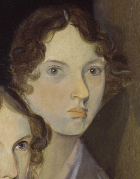 A picture of Emily Bronte painted by her brother Bramwell