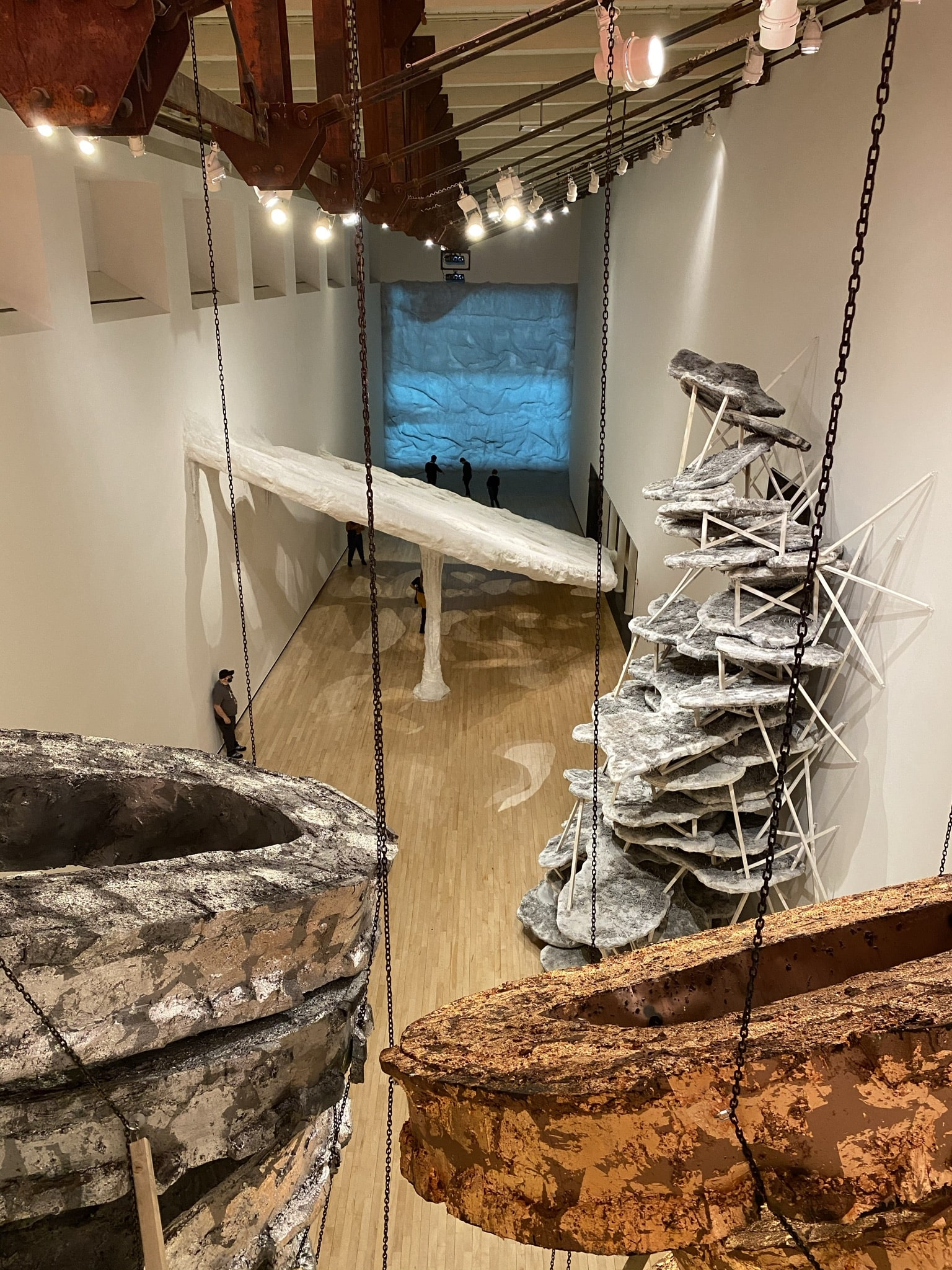 """Photo of part of the exhibit """"How to Move a Landscape"""" at MASS MoCA in North Adams, Mass."""