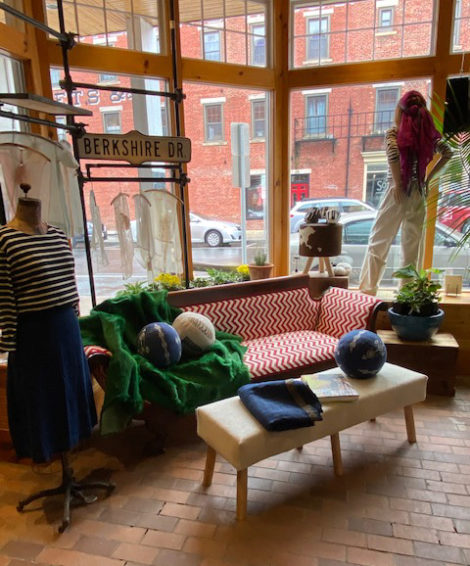A little sitting area at the new home of griffin, a shop in downtown Great Barrington, Mass.