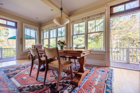 The porch-dining room at 22 Cliffwood Street, Lenox, Mass.