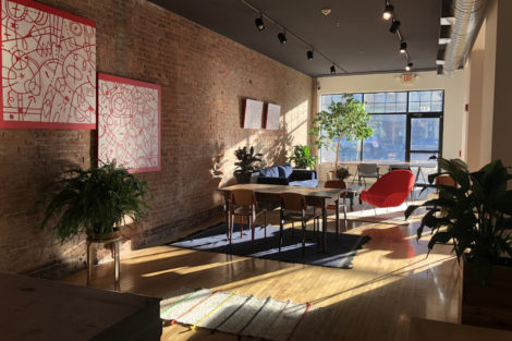 Interior of coworking space Framework in Pittsfield, Mass.
