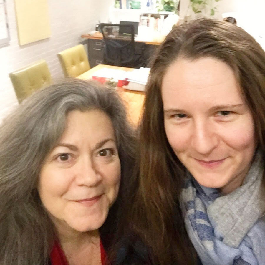 Liana Toscanini from the Nonprofit Center of the Berkshires with her Marketing Manager Elizabeth Stone